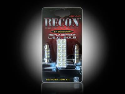 Recon Lighting - Ford Dome Light Set LED Replacement - Fits Ford 99-10 Superduty F250/350/450/550/650 & 97-03 F150 - 2 Sets Required For 4-Door Trucks