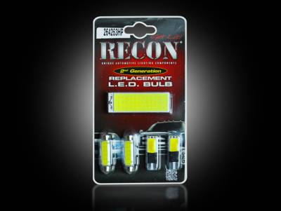 Recon Lighting - Ford High Power Dome Light Set LED Replacement - Fits Ford 11-15 Superduty F250/350/450/550/650