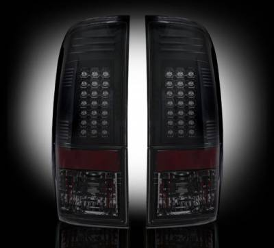 "Recon Lighting - Ford Superduty F250HD/350/450/550 99-07 & F150 97-03 Straight aka ""Style"" Side LED Tail Lights - Smoked Lens"