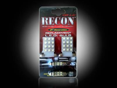 Recon Lighting - GM Dome Light Set LED Replacement - Fits GMC & Chevy 07-14 Sierra & Silverado - 1 Set Required for Both 2-Door & 4-Door Trucks