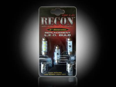 Recon Lighting - GM High Power Dome Light Set LED Replacement - Fits GMC & Chevy 00-07 Sierra & Silverado (CLASSIC BODY STYLE) 1 Set Required for Both 2-Door & 4-Door Trucks