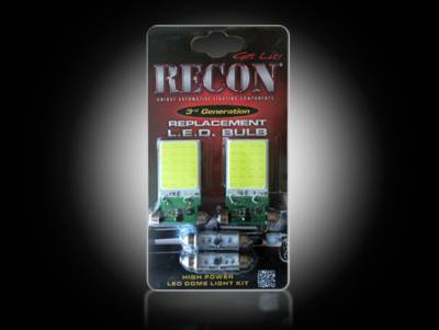 Recon Lighting - GM High Power Dome Light Set LED Replacement - Fits GMC & Chevy 07-14 Sierra & Silverado - 1 Set Required for Both 2-Door & 4-Door Trucks