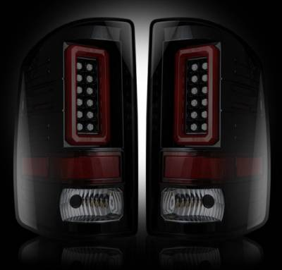 Recon Lighting - GMC Sierra 15-16 2500/3500 (Fits 3rd GEN Single-Wheel ONLY) LED TAIL LIGHTS - Smoked Lens