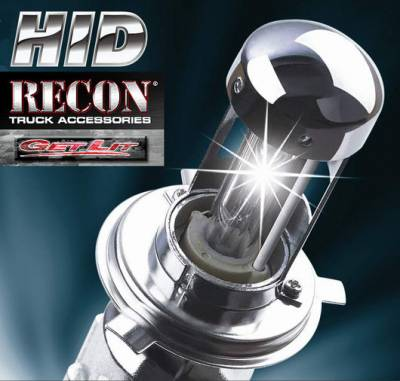 Recon Lighting - H4 9003 Single Beam HID with 6,000 Kelvin Bulb & Extra Slim 35 Watt Impact & Water Resistant Ballasts