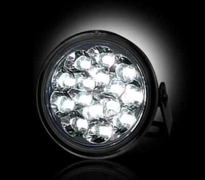 Recon Lighting - LED Daytime Running Lights w White LED's & Round Shaped Housing - SMOKED LENS