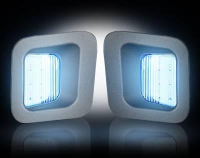Recon Lighting - White LED License Plate Illumination Kit - Fits all 03-16 DODGE RAM Trucks
