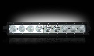 "Recon Lighting - 6750 LUMEN 18"" LED LIGHT BAR & RECON WIRING KIT - 9 Individual 10-Watt (90-Watt Total) CREE XML LEDs"