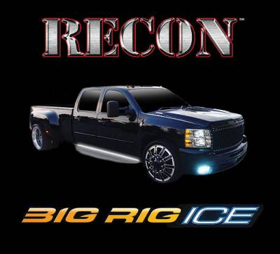 "Recon Lighting - 62"" BIG RIG ICE LED Running Light Kit in Amber w White LED Courtesy Light - 2 Piece Set Includes Left & Right Side (Fits all Extended & Quad Cab Trucks)"