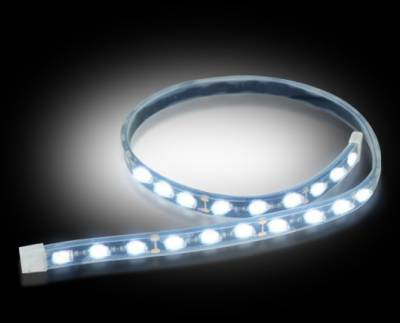 """Recon Lighting - 12"""" Flexible IP68 Rated Waterproof Light Strips with Ultra High Power CREE LEDs (2-Piece Set) - WHITE"""