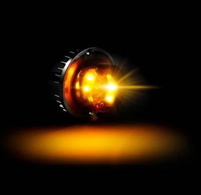 Recon Lighting - 6-LED 19 Function 24-Watt Ultra High-Intensity Strobe Light Kit (2 LED Strobe Lights & 1 Controller Included) - Amber Color