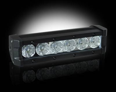 "Recon Lighting - 2100 LUMEN 8"" LED LIGHT BAR & RECON WIRING KIT - 6 Individual 5-Watt (30-Watt Total) CREE XTE LEDs"