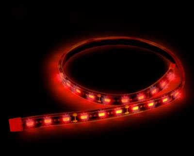 """Recon Lighting - 24"""" Flexible IP68 Rated Waterproof Light Strips with Ultra High Power CREE LEDs (2-Piece Set) - RED"""