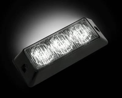 Recon Lighting - 3-LED 12 Function 3-Watt High-Intensity Strobe Light Module w Black Base - White Color