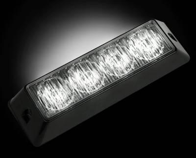 Recon Lighting - 4-LED 19 Function 4-Watt High-Intensity Strobe Light Module w Black Base - White Color