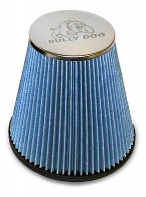 Bully Dog - RFI cone replacement filter, 8 layer cotton gauze -2001-07 Duramax, Fits Intake part number 52101, 53100, 53200,55200,