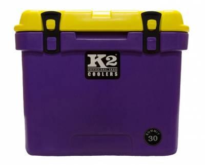 K2 Coolers - Summit 30- Purple/Yellow Lid *Geaux Tigers*
