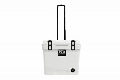 K2 Coolers - Summit 30- Glacier White with Wheels