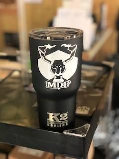 MDP K2 Tumbler - Black w/ White Logo