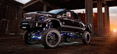 "BulletProof Suspension  - BulletProof Suspension 2005-2016 Ford F250-F350 4WD 10""-12"" Lift Kit - Option 4 (All+ Rear Cantilever)"