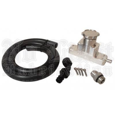 No Limit Fabrication  - 6.4 Premium Crank Case Vent Kit 08-10 Ford Super Duty Power Stroke Black No Limit Fabrication