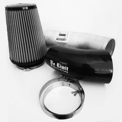 No Limit Fabrication  - 6.7 Cold Air Intake 11-16 Ford Super Duty Power Stroke Black Dry Filter Stage 1 No Limit Fabrication
