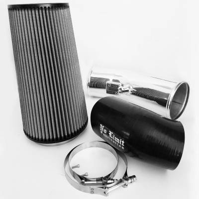 No Limit Fabrication  - 6.7 Cold Air Intake 11-16 Ford Super Duty Power Stroke Polished Dry Filter Stage 2 No Limit Fabrication