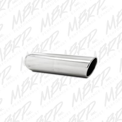 "Exhaust Systems / Manifolds - Exhaust Tips - MBRP Exhaust - MBRP Exhaust 4"" OD, 3"" inlet, 16"" in length, Angled Cut Rolled End, Clampless, no weld, T304 T5146"
