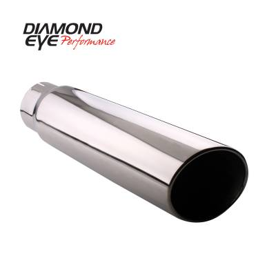 Exhaust Systems / Manifolds - Exhaust Tips - Diamond Eye Performance - Diamond Eye Performance TIP; ROLLED ANGLE CUT; 4in. ID X 5in. OD X 12in. LONG; 304 STAINLESS 4512RA