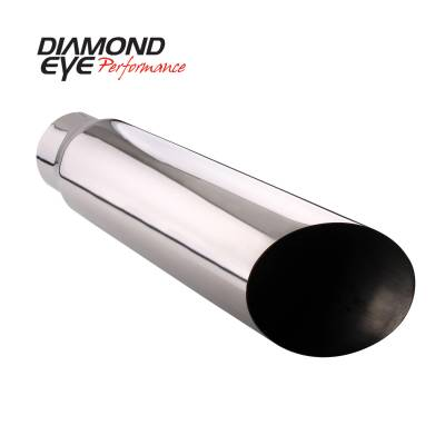 Exhaust Systems / Manifolds - Exhaust Tips - Diamond Eye Performance - Diamond Eye Performance TIP; ANGLE CUT; 4in. ID X 5in. OD X 12in. LONG; 304 STA 4512AC
