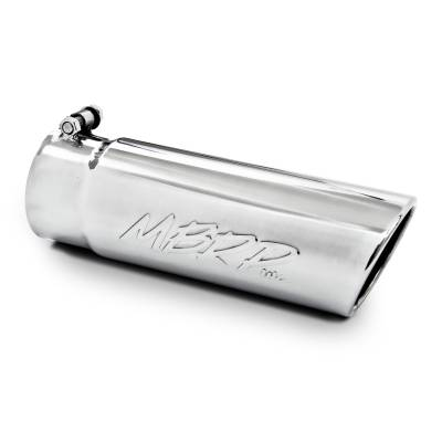 "MBRP Exhaust - MBRP Exhaust Tip, 4"" O.D. Angled Rolled End  3 1/2"" inlet 10"" length, T304 T5112"