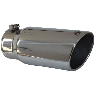"MBRP Exhaust - MBRP Exhaust Tip, 5"" O.D. Angled Rolled End  4"" inlet  12"" length, T304 T5051"