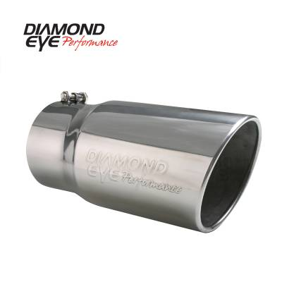 "Exhaust Systems / Manifolds - Exhaust Tips - Diamond Eye Performance - Diamond Eye Performance 4"" INLET X 5"" OUTLET X 12"" LONG BOLT ON ROLLED ANGLE STAINLESS STEEL EXHAUST TIP 4512BRA-DE"