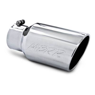 "MBRP Exhaust - MBRP Exhaust Tip, 6"" O.D. Angled Rolled End  4"" inlet  12"" length, T304 T5073"