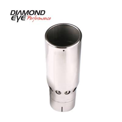 Exhaust Systems / Manifolds - Exhaust Tips - Diamond Eye Performance - Diamond Eye Performance TIP; VENTED ROLLED ANGLE; 4in. ID X 5in. OD X 16in. LONG; 4516VRA