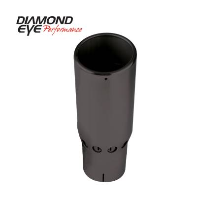 Exhaust Systems / Manifolds - Exhaust Tips - Diamond Eye Performance - Diamond Eye Performance PERFORMANCE DIESEL EXHAUST PART-5in. ID X 6in. OD X 16in. LONG VENTED ROLLED ANG 5616SVRA