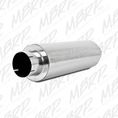 "MBRP Exhaust - MBRP Exhaust Quiet Tone Muffler, 5"" In/Out, 8? Dia. Body, 31? Overall, AL M2220A"