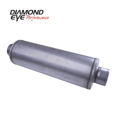 Diamond Eye Performance - Diamond Eye Performance PERFORMANCE DIESEL EXHAUST PART-5in. ALUMINIZED PERFORMANCE LOUVERED MUFFLER-30i 460100