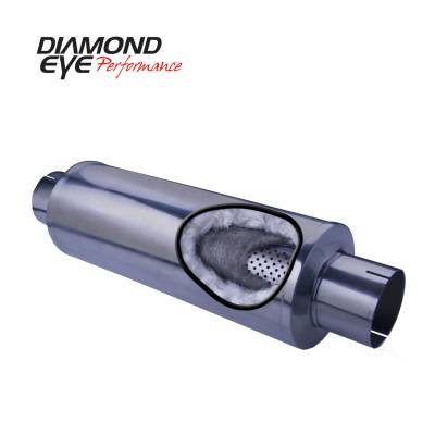 Diamond Eye Performance - Diamond Eye Performance PERFORMANCE DIESEL EXHAUST PART-5in. 409 STAINLESS STEEL PERFORMANCE PERFORATED 560031