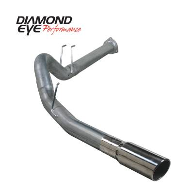 "Exhaust Systems / Manifolds - Turbo Back Duals - Diamond Eye Performance - Diamond Eye Performance 2011-2014 FORD 6.7L POWERSTROKE F250/F350 4"" DPF BACK SINGLE 409 STAINLESS STEEL K4376S"