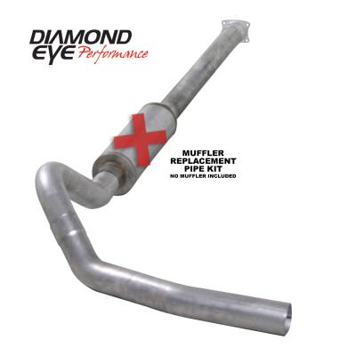 Exhaust Systems / Manifolds - Turbo Back Duals - Diamond Eye Performance - Diamond Eye Performance 2001-2005 CHEVY/GMC 6.6L DURAMAX 2500/3500 (ALL CAB AND BED LENGHTS)-4in. ALUMIN K4110A-RP