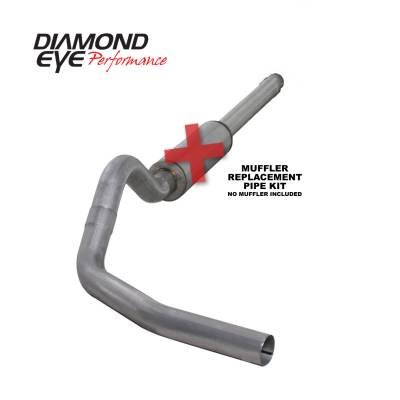 "Diamond Eye Performance - Diamond Eye Performance 1994-1997.5 FORD 7.3L POWERSTROKE F250/F350 (ALL CAB AND BED LENGTHS) K4310A-RP - 4"" ALUMINIZED - CAT BACK SINGLE - Image 1"