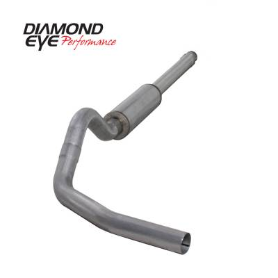 "Diamond Eye Performance - Diamond Eye Performance 1994-1997.5 FORD 7.3L POWERSTROKE F250/F350 (ALL CAB AND BED LENGTHS) K4310A-RP - 4"" ALUMINIZED - CAT BACK SINGLE - Image 2"