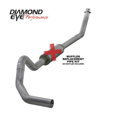 Exhaust Systems / Manifolds - Turbo Back Single - Diamond Eye Performance - Diamond Eye Performance 1994-2002 DODGE 5.9L CUMMINS 2500/3500 (ALL CAB AND BED LENGTHS)-4in. ALUMINIZED K4212A-RP