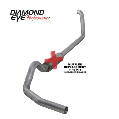 Exhaust Systems / Manifolds - Turbo Back Duals - Diamond Eye Performance - Diamond Eye Performance 1999-2003.5 FORD 7.3L POWERSTROKE F250/F350 (ALL CAB AND BED LENGTHS) 4in. ALUMI K4318A-RP