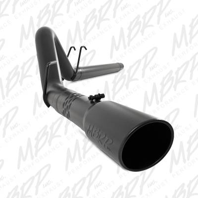 """Exhaust Systems / Manifolds - Turbo Back Single - MBRP Exhaust - MBRP Exhaust 4"""" Filter Back, Single Side Exit, Black Coated S6242BLK"""