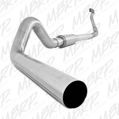 "Exhaust Systems / Manifolds - Turbo Back Single - MBRP Exhaust - MBRP Exhaust 4"" Turbo Back, Single Side Off-Road (Aluminized downpipe) S6218P"