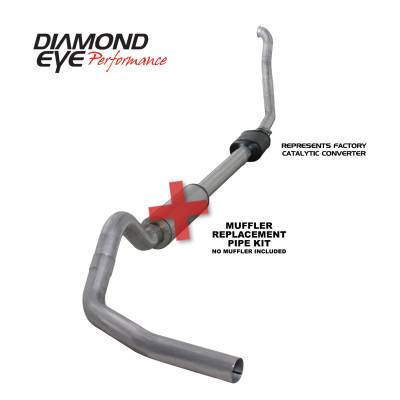 Exhaust Systems / Manifolds - Turbo Back Single - Diamond Eye Performance - Diamond Eye Performance 1994-1997.5 FORD 7.3L POWERSTROKE F250/F350 (ALL CAB AND BED LENGTHS) 4in. ALUMI K4306A-RP