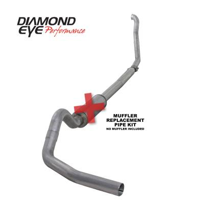 Exhaust Systems / Manifolds - Turbo Back Single - Diamond Eye Performance - Diamond Eye Performance 1994-1997.5 FORD 7.3L POWERSTROKE F250/F350 (ALL CAB AND BED LENGTHS) 4in. ALUMI K4307A-RP