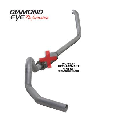 Exhaust Systems / Manifolds - Turbo Back Single - Diamond Eye Performance - Diamond Eye Performance 1999.5-2003.5 FORD 7.3L POWERSTROKE F250/F350 CAB/CHASSIS-4in. ALUMINIZED-PERFOR K4326A-RP
