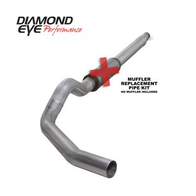 "Diamond Eye Performance - Diamond Eye Performance 1994-1997.5 FORD 7.3L POWERSTROKE F250/F350 (ALL CAB AND BED LENGTHS) K5316A-RP -  FORD 5"" ALUMINIZED - CAT BACK SINGLE"